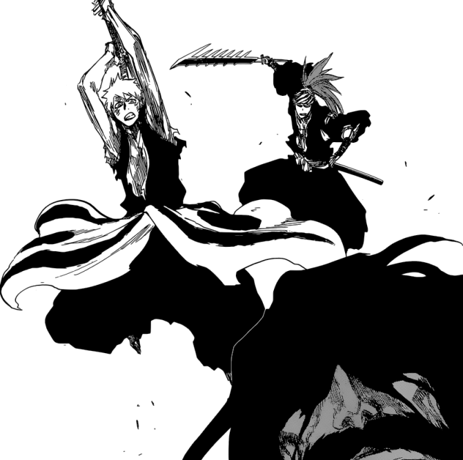 Ichigo and Renji attack Yhwach