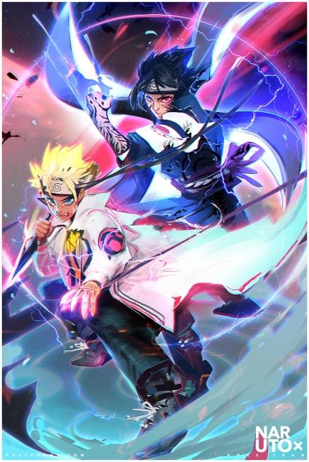 Fighting to Protect – Naruto andSasuke