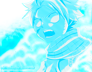 Fairy Tail 497 Natsu Frozen by laxusdreyards