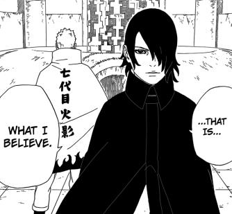 Naruto and Sasuke on training Boruto