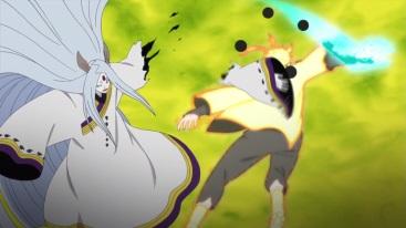 Naruto cuts Kaguya's arm
