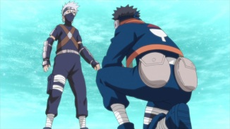 Obito helps Kakashi