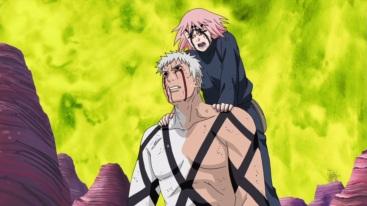 Sakura gives Obito chakra