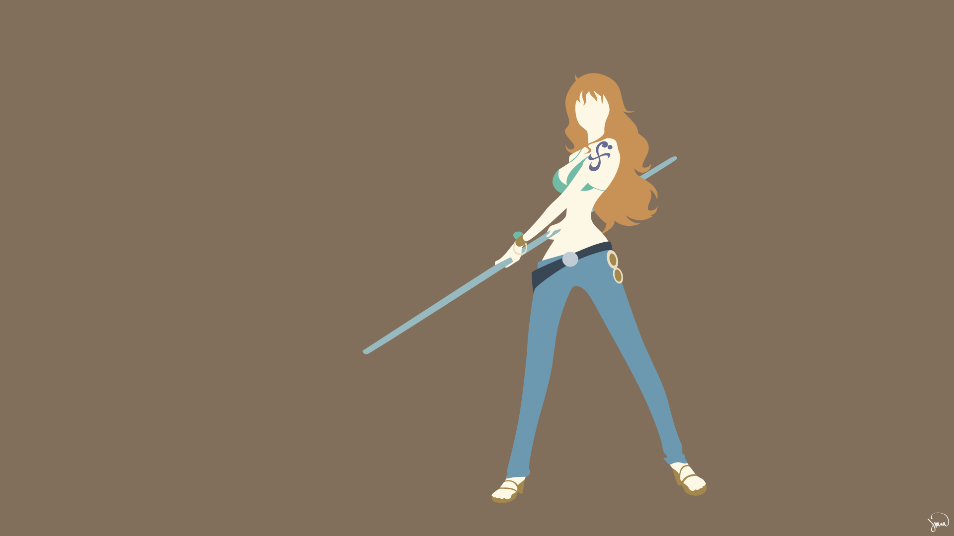nami one piece wallpaper by greenmapple17 daily anime art