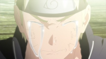 Naruto cries for Minato