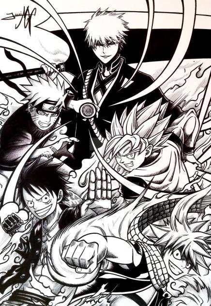 Fantastic Five – Ichigo Naruto Goku Luffy andNatsu