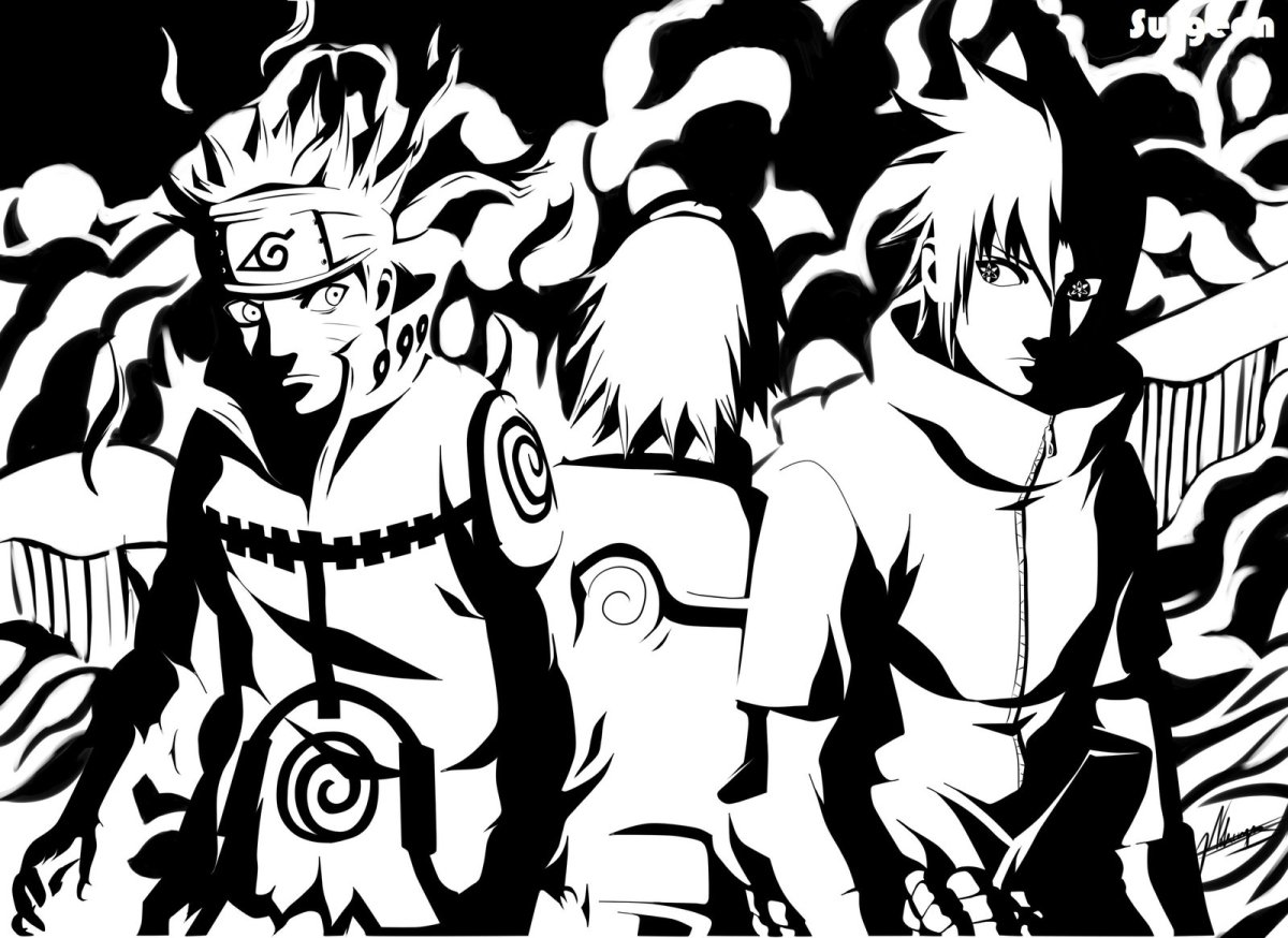A Team Of Three – Naruto, Sasuke And Sakura