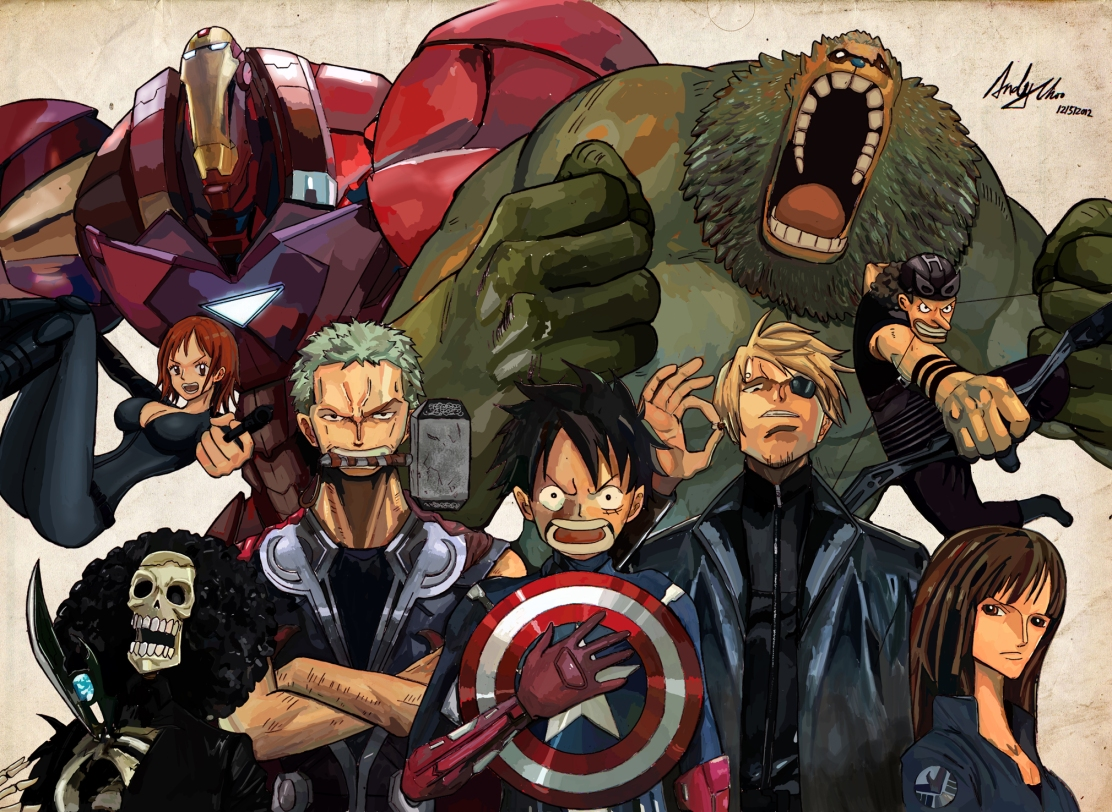 one-piece-avengers-crossover-by-andimoo