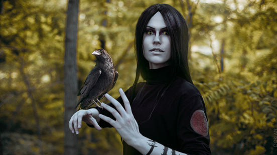 orochimaru-cosplay-with-crow-by-elena89hikari