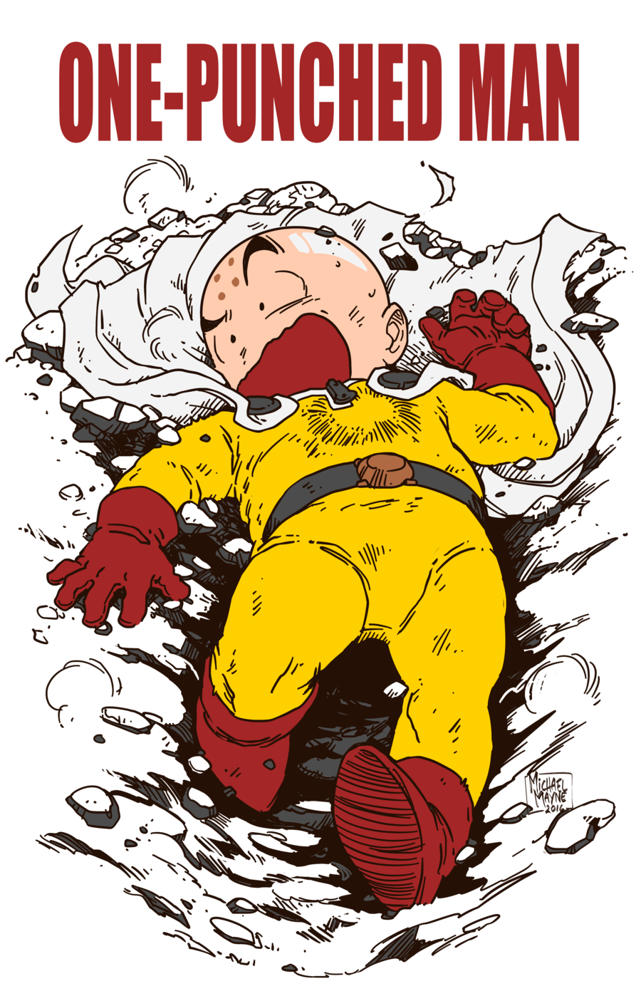 one-punched-man-krillin-saitama-by-michaelmayne