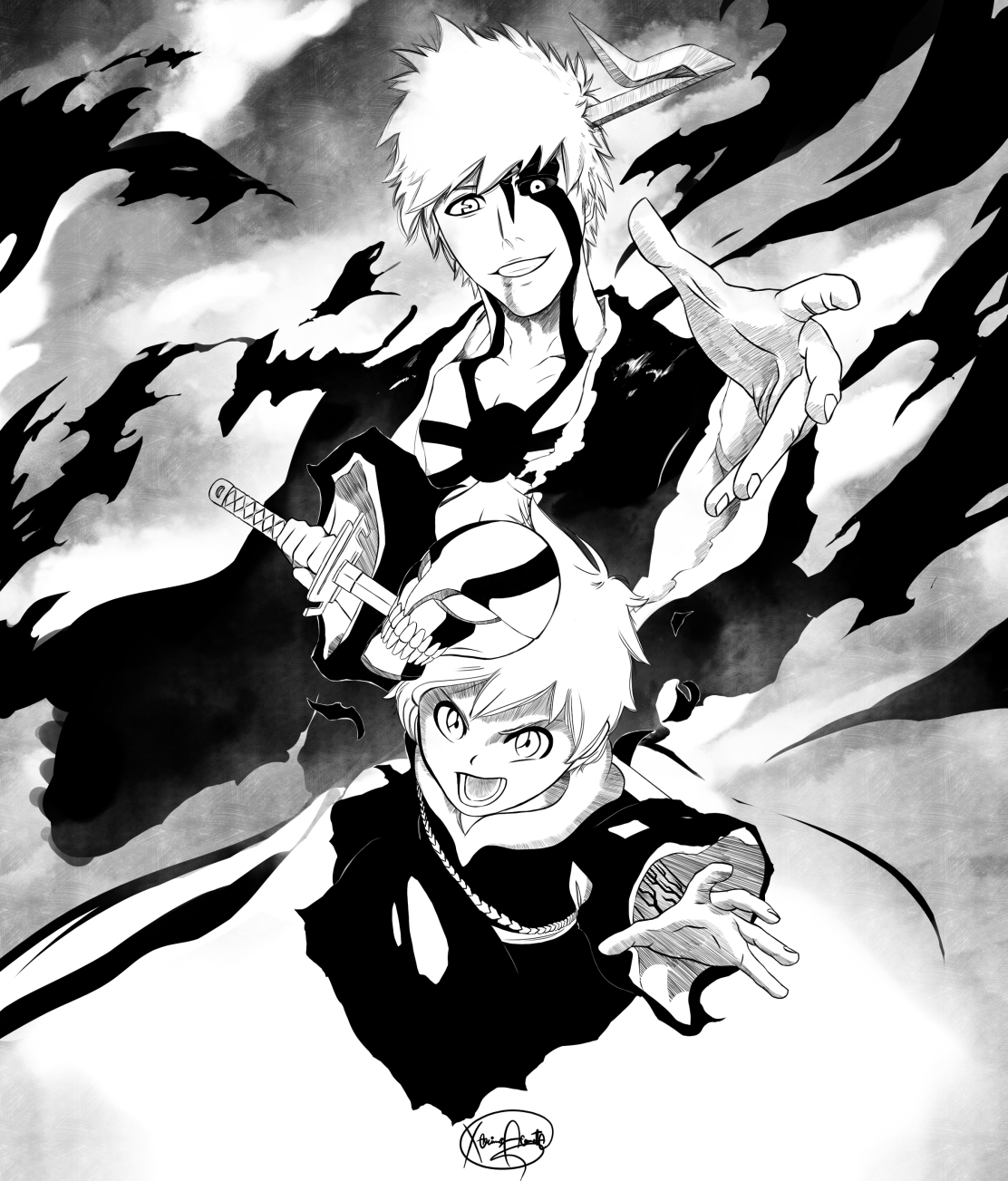 the-end-is-where-we-begin-bleach-ichigo-kazui-kurosaki-by-maithagor