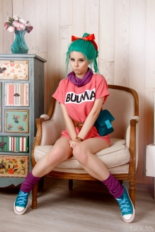 Cosplay Bulma Dragonball by Disharmonica