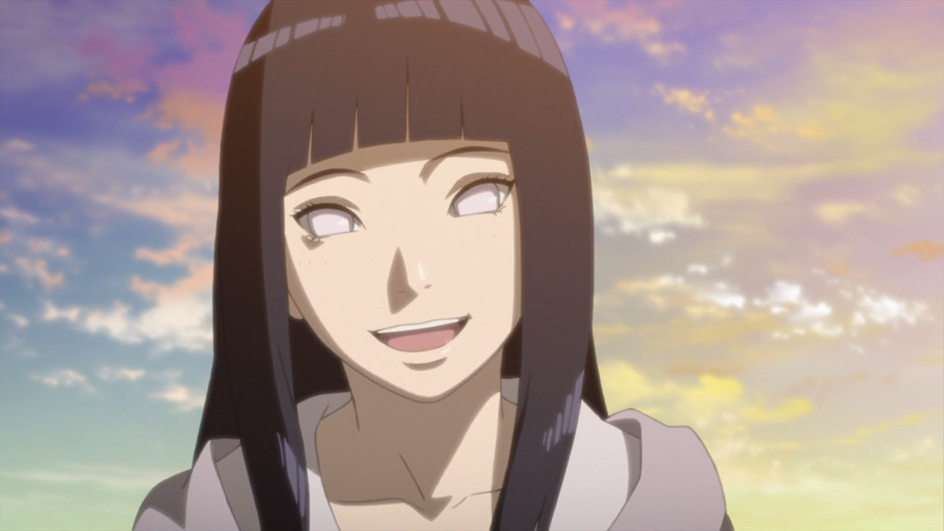 Hinata during sunset | Daily Anime Art