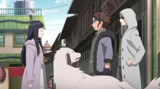 Hinata meets Shino Kiba Akamaru