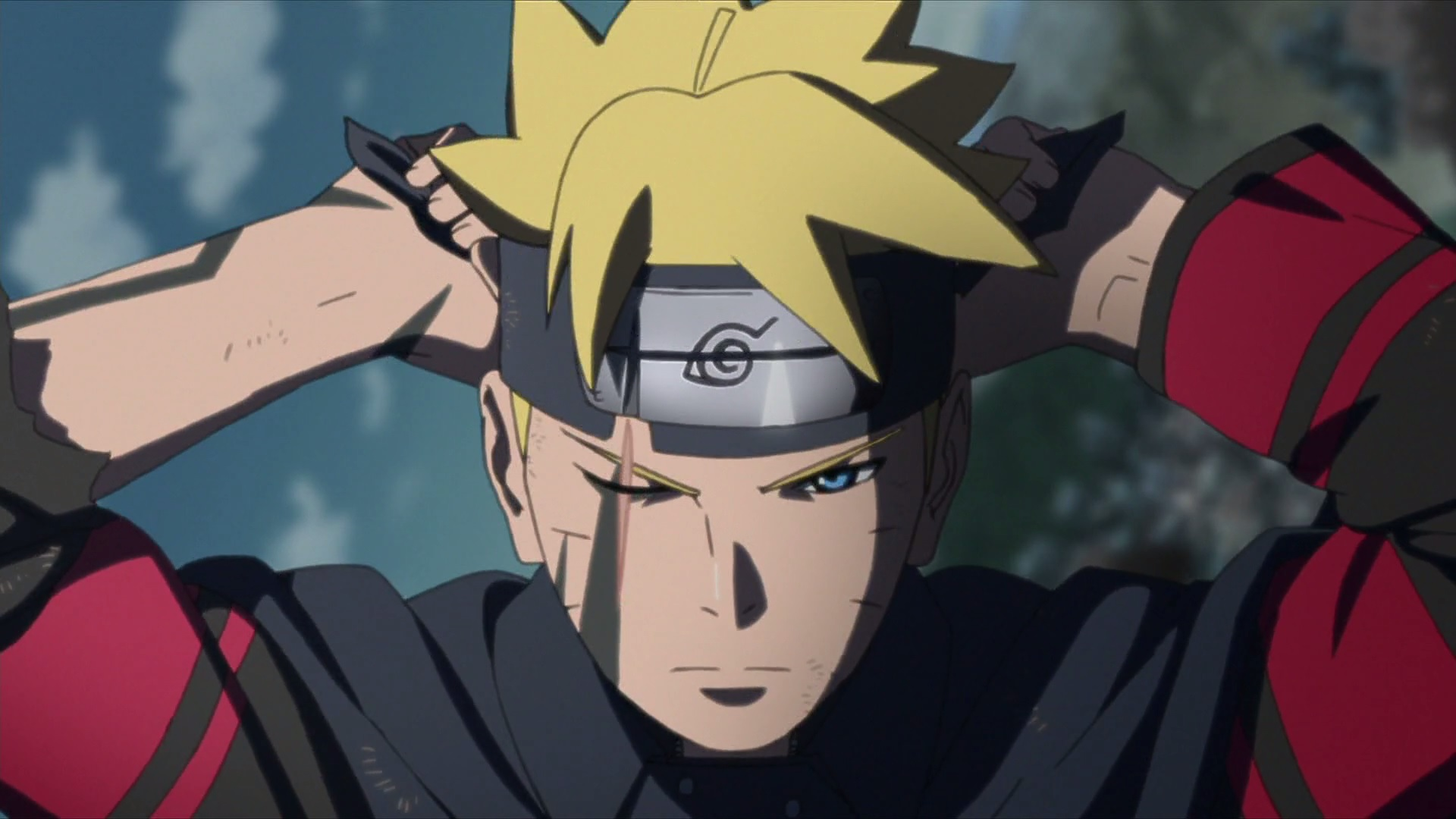 Boruto Wears Leaf Headband Daily Anime Art