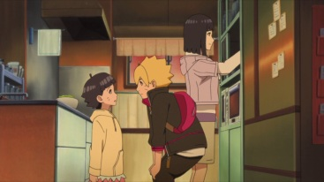 Boruto with Himawari and Hinata