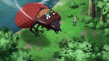 Shino saves Naruto Mitsuki