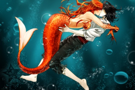 Underwater Mermaid – Orihime and Ulquiorra