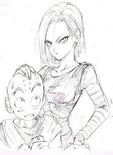 Android 18 and Krillin
