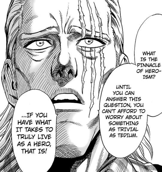 King tells Saitama how he thinks