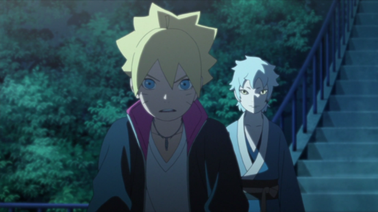Mitsuki and Boruto talk