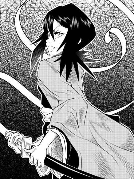 Black & White Shinigami – RukiaKuchiki