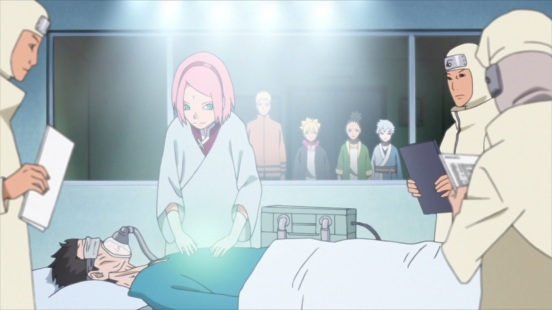 Sakura heals injured person