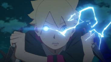 Boruto's eyes activates