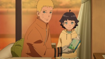 Naruto reads to Himawari