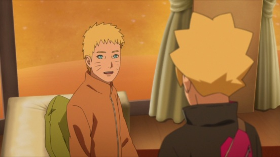 Naruto talks to Boruto