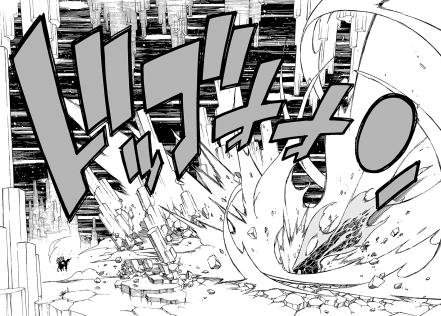 Natsu attacks Acnologia
