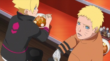 Boruto and Naruto eat ramen