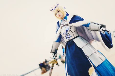 Fate Grand Order Saber Pendragon by Artoria Grey Cosplay