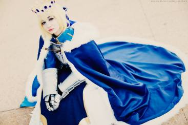 Fate Grand Order Saber Pendragon Cosplay by Artoria Grey Cosplay