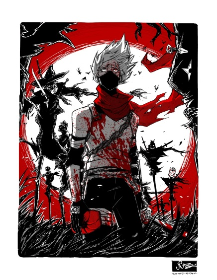 Soldier in a Field of Scarecrows – Hatake Kakashi