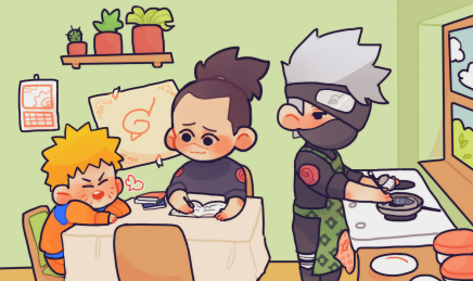 Having Dinner – Naruto, Iruka and Kakashi