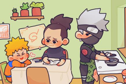 Having Dinner – Naruto, Iruka andKakashi