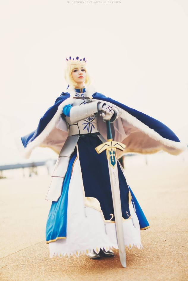 Saber Pendragon cosplay by Artoria Grey Cosplay