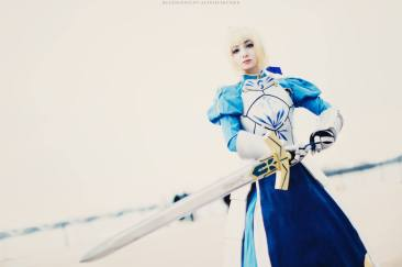 Saber Pendragon Fate Grand Order Anime Cosplay by Artoria Grey Cosplay