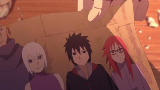 Sarada discorvers Sasuke's image with Karin