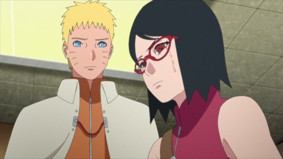 Sarada listens to Naruto
