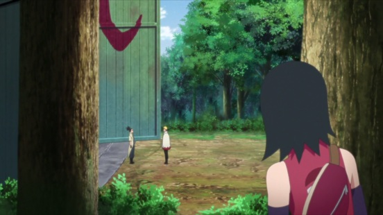 Sarada spies on Naruto