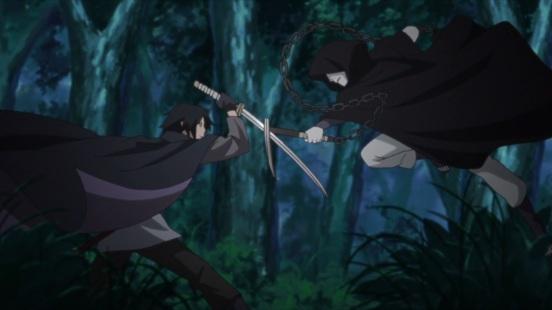 Sasuke encounters enemy