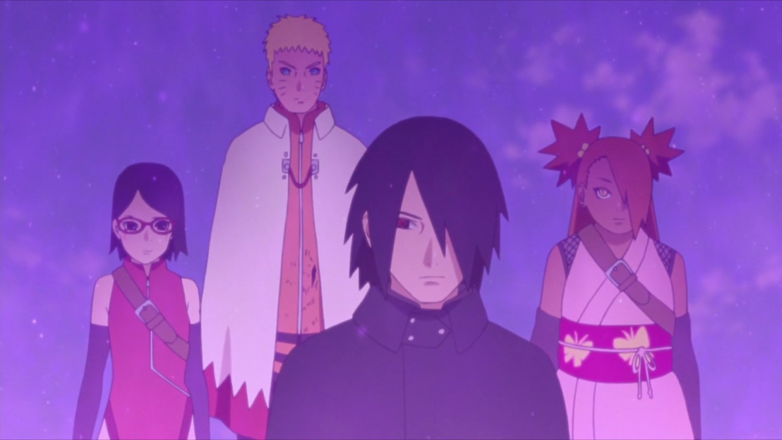 Sasuke takes everyone to Shin's hideout