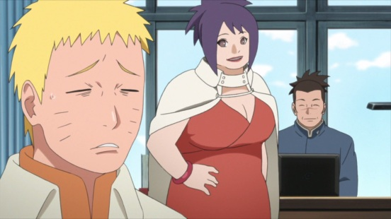 Naruto talks to Iruka