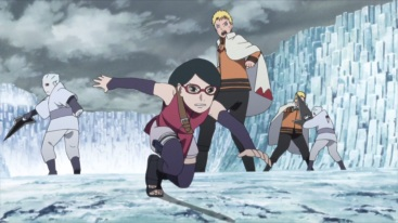 Sarada escapes ahead