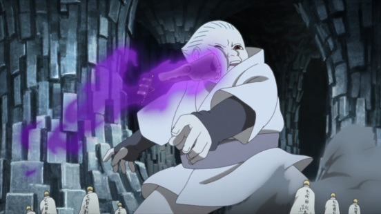 Sasuke hits big clone Shin